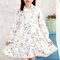 Flower Girls Dresses Long Sleeve A Line Chiffon Dress For 4Y-15Y