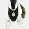 Bohemian Dacron Multi-layer Necklace Handmade Teardrop Pendant Tassel Women Scarf Shawl Necklace - 06