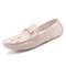 Men  Crocodile Pattern Driving Loafers Slip On Casual Leather Shoes - Beige