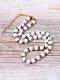 Ethnic Semi-precious Stone Beaded Adjustable Thick Round Bead Necklace - #02