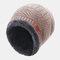 メンズウールPlusベルベット厚手の冬は暖かく防風ニット帽を保つ - ベージュ