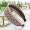 Bohemian Cotton Linen Anti-skid Wide Hairband Ethnic Hand-woven Embroidery Headband - B