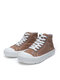 Women Casual Solid Color Board Shoes Soft Comfy Canvas Boots - Brown