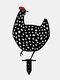 1PCアクリルBlackチキンシェイプハローアウトガーデンデコレーションシミュレーションチキン芝生インサートカード - #01