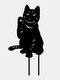 1PC 革新的なアクリルシミュレーション漫画猫屋外の庭の装飾挿入カードアート中空装飾工芸品家の庭の装飾品 - #05