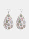 Easter Cute Colorful Bunny Print Leather Drop-shaped Earrings - 2