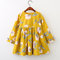 Flower Girls Dresses Kids Casual Vintage Dress For 3Y-11Y - Yellow