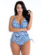 Plus Size Sexy Slimming Swimwear One Piece Print V Neck Drawstring Women Bathing Suits By Newchic
