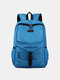Comfy Nylon Tear Resistance Breathable Waterproof Breathable Fabric 17 Inch Laptop Backpack - Light Blue