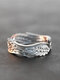 Vintage Feather Wings Women Ring Angel Wings Ring Jewelry Gift - Silver