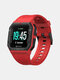 Sports Modes Wristband Heart Rate Blood Pressure Monitor Custom Dials Weather Push Music Control Smart Watch - Red