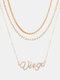 Collar Vintage Doce Constelaciones Mujer Collar de diamantes con incrustaciones de múltiples capas Colgante - Virgo
