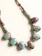Vintage Ethnic Drop Round Shaped Beaded Braided Ceramics Velvet Rope Long Sweater Necklace - #02