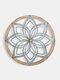 1 PC Acrylic Geometric Flower Hollow Made-old Home Decoration Wall Art Wall Hanging - #01