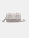 Women Chains Casual Solid Crossbody Bag Shoulder Bag - White