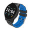 Smart Watch Dynamic Heart Rate Blood Pressure Oxygen Activity Monitor Round Dial Smart Watch - Blue