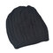 Women Knit Ski Cap Fall Skull Outdoor Keep Warm Crochet Beanie Hat - Black