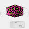 Color Leopard Pattern Polyester Fashion Dustproof Mask With 7 Mask Gaskets - #02