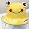 Children's Dust Cap Detachable Face Screen Windproof Transparent Fisherman Hat  - Yellow