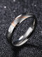 Simple Titanium Steel Couple Ring Heart Puzzle Ring Valentine's Day Gift - Women
