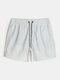 Pantalones cortos deportivos informales de vacaciones con cordón de secado rápido y estampado geográfico para hombre - Verde
