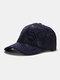 Men Cotton Graffiti Letter Pattern Casual Fashion Outdoor Sunshade Baseball Hat - Navy