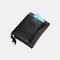 Men Genuine Leather RFID Anti-theft Multi-slots Retro Large Capacity Foldable Card Holder Wallet - Black 1