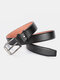 Men Faux Leather Belt Casual Fashion Business All-match Leather Belt - #04
