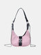 Women Oxford Chains Solid Crossbody Bag Handbag Satchel Bag - Pink