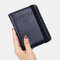 Women RIFD Genuine Leather 4 Card Slots 2 Cell Phone Card Multifunctional ID Package Money Clip Wallet Purse - Black