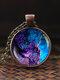 Vintage Glass Gem Women Necklace Universe Starry Sky Pendant Necklace Jewelry - #05