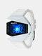 Multi-Function LED Display Men Watch Luminous Waterproof Electronic Watch - White