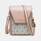 Women Floral Patchwork 6.3 Inch Phone Crossbody Bag - Pink