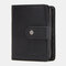Women Genuine Leather RFID Multi-function Multi Card Slots Casual Solid Color Brief Card Holder Wallet - Black