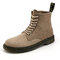 Men Classic Work Style Outdoor Slip Resistant Ankle Boots - Brown