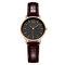 SHENGKE Classic Quartz Watches Ultra Thin Waterproof Leather Stainless Steel Minimalist Wathces - #4