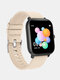1.4inch Full Screen Touch Heart Rate Blood Pressure Oxygen Monitor 30 Days Longs Standby Smart Watch - Pink