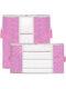 2 piezas de almacenamiento de edredón no tejido Bolsa ropa para el hogar edredón almohada manta de almacenamiento Bolsa transparente grueso resistente al desgaste - Rosado
