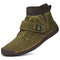 Men Synthetic Suede Splicing Hand Stitching Non Slip Casual Ankle Boots - Green
