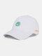 Unisex Cotton Embroidery Animal Pattern Summer Casual Sunshade Fashion Baseball Hat - White