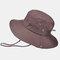 Men's Hiking Hat Big Breathable Sun Hat UV Protection Fisherman's Hat - Coffee