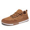 Men Comfy Suede  Round Toe Sport Casual Skate Shoes - Brown