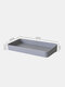 Wall-Mounted Punch-Free Easy Assembly Hanging Board Hook Rack Shelf DIY Bathroom Kitchen Storage Holder Hole Plate Wall Decor Display Stand - Gray Rectangle Box