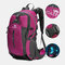 Men Polyester Free Rain Cover 40L Waterproof Outdoor Hiking Travel Lightweight Backpack - Rose