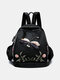 Women Chinese Style Embroidered Butterfly Dragonfly Large Capacity Backpack - 01