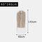 Transparent Clothing Dust Cover Coat Suit Dust Bag Cover Storage Bag - L