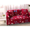 Red Kimono 1/3 Seater Home Soft Elastic Sofa Cover Easy Stretch Slipcover Protector Couch - Single-seat