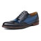 Menico Men Stylish Brogue Oxfords Color Blocking Formal Dress Wedding Shoes