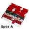 5/10Pcs Cartoon Christmas Series Twill Cotton Fabric DIY Handmade Patchwork Sewing Fabric - #1