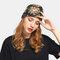 Women Floral Cancer Chemo Hat Beanie Scarf Turban Head Wrap Cap - Black